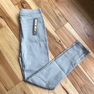 NWT light gray Moto Leggings